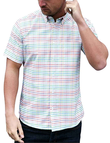 Southern Comfort Short Sleeve Multi Check Shirt