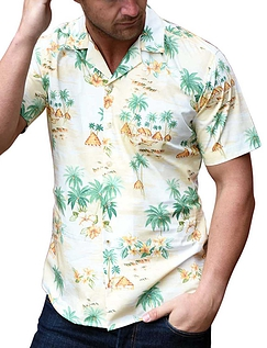Southern Comfort Hawaiian Print Short Sleeve Shirt