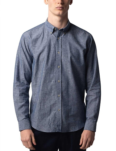 Southern Comfort Long Sleeve Linen Blend Shirt