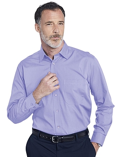 Double Two Non-Iron Long Sleeved Shirt - Mauve