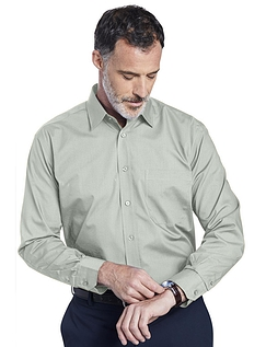 Double Two Non-Iron Long Sleeved Shirt - PALE SAGE