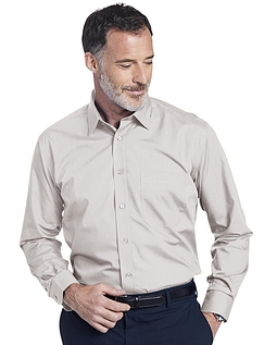 Double Two Non-Iron Long Sleeved Shirt - Stone