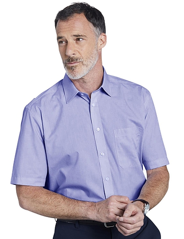 Double 2 Non Iron Short Sleeved Shirt