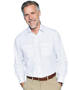 Long Sleeve Pilot Shirt With Epaulettes