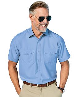Short Sleeve Pilot Shirt With Epaulettes