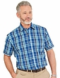 Short Sleeve Check Shirt with Chest Pocket