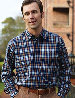 BAR HARBOUR BRUSHED CHECK SHIRT