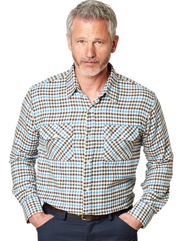 Pegasus Town & Country Brushed Check Shirt