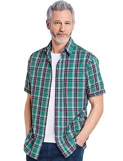 Short Sleeve Check Shirt - Jade