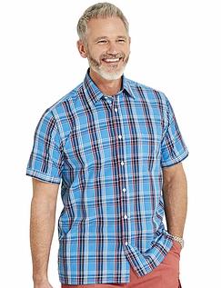 Short Sleeve Check Shirt - Teal