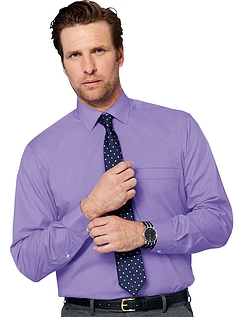 Rael Brook Long Sleeve Shirt And Tie Set - Purple