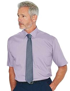 Rael Brook Short Sleeved Shirt And Tie Set - Lilac