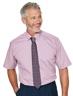 Rael Brook Short Sleeved Shirt And Tie Set - PINK