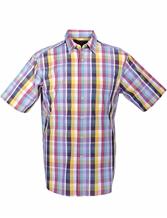 DOUBLE TWO SHORT SLEEVE SUMMER CHECK SHIRT