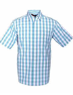 DOUBLE TWO LARGE GINGHAM STYLE CHECK SHORT SLEEVE SHIRT