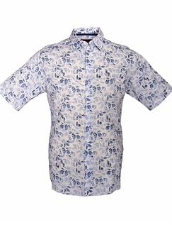 DOUBLE TWO SHORT SLEEVE PRINT SHIRT