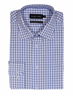 DOUBLE TWO SMART LONG SLEEVE CHECK SHIRT