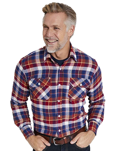 Mens Lucky Dip Long Sleeve Brushed Check Shirt