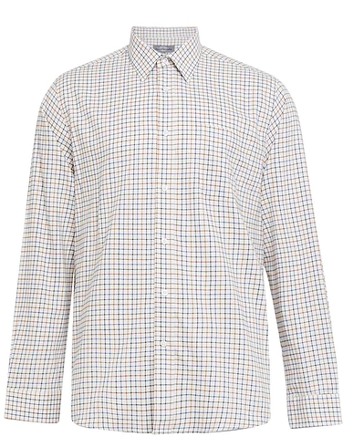 Peter Gribby Long Sleeve Brushed Check Country Shirt - Blue