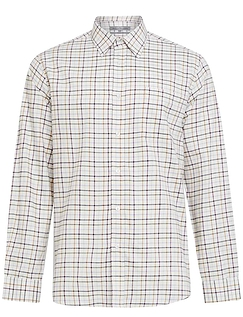 Peter Gribby Long Sleeve Brushed Check Country Shirt - GRAPE