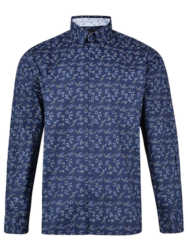 Lizard King Long Sleeve Design Printed Shirt - Navy
