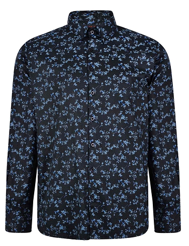 Lizard King Long Sleeve Floral Printed Shirt
