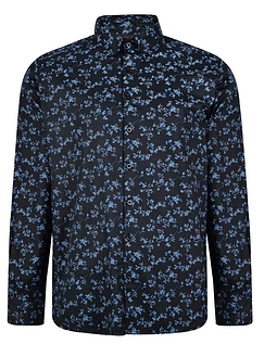 Lizard King Long Sleeve Floral Printed Shirt - Black