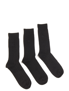 Pringle 3 Pack of Ribbed Socks (Laird)