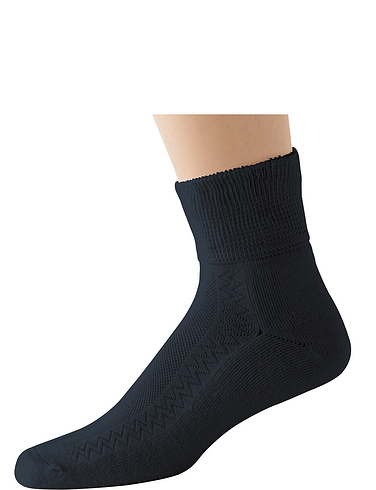 HJ Hall Pack Of 2 Short Diabetic Socks