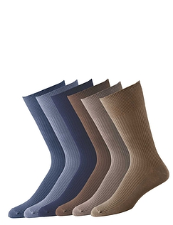 Pack Of 6 Light Assorted Socks - Assorted