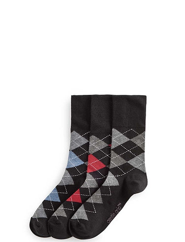 Pack of 6 Argyle Socks