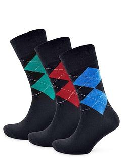 Pack of 6 Argyle Socks - Assorted