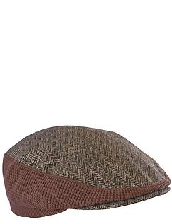 Stretch Tweed Cap - Brown