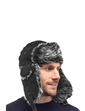 Trapper Hat With Faux Fur Lining