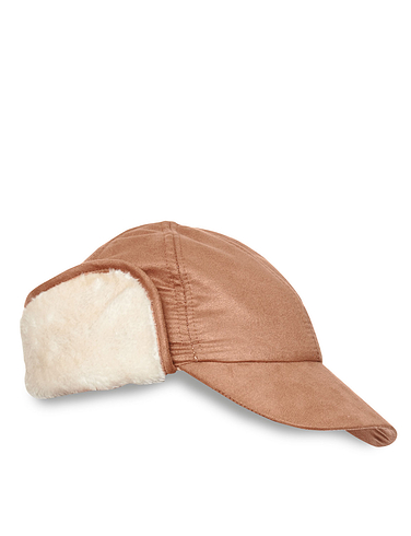Mock Sheepskin Trapper Hat