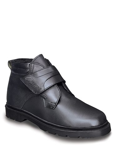 Standard Fit Leather Touch Fastening Boot