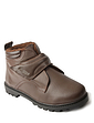 Mens Standard Fit Leather Touch Fastening Boot