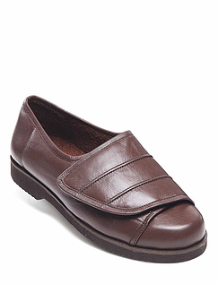 Mens Real Leather Extra Wide Opening Shoe