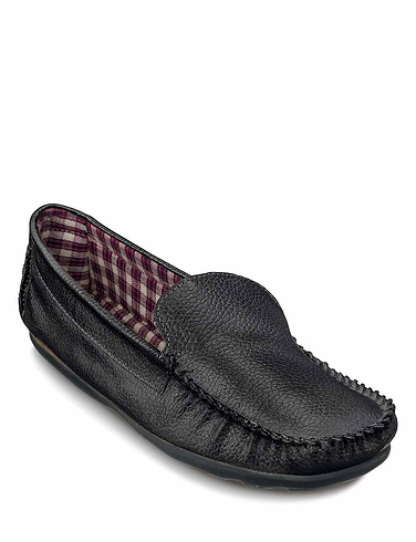Leather Cotton Lined Driving Shoe