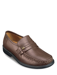 Genuine Leather Slip-On Shoes
