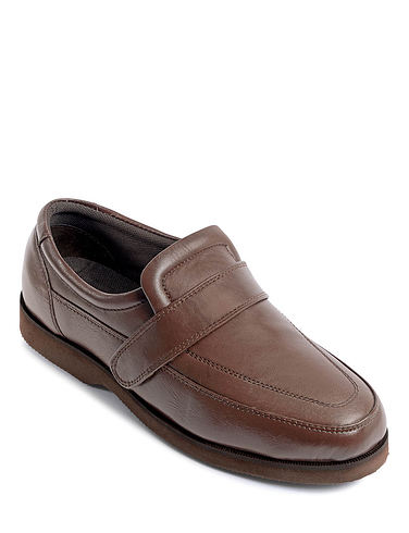 Standard Fit Leather Touch Fastening Shoe