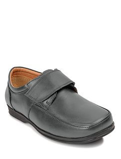 Real Leather Wide Fitting Touch Fastening Shoe