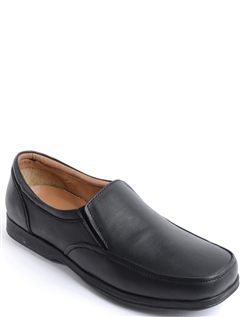 Real Leather Wide Fitting Elastic Gusset Shoe