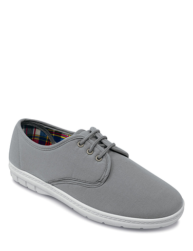Mens Canvas Lace Up Shoe