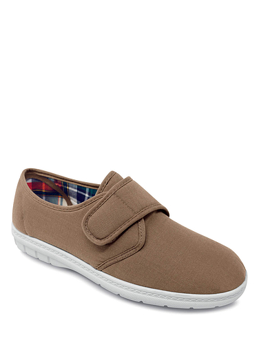 Mens Canvas Touch and close fastening Shoe