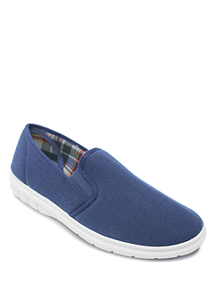 Mens Canvas Twin Elastic Gusset Shoe