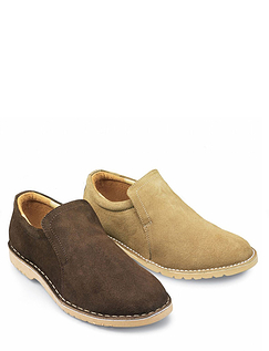 Suede Slip On Desert Shoe