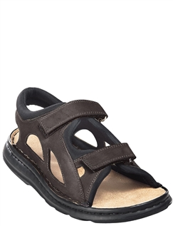 Mens Fully Adjustable Leather/Suede Sandal