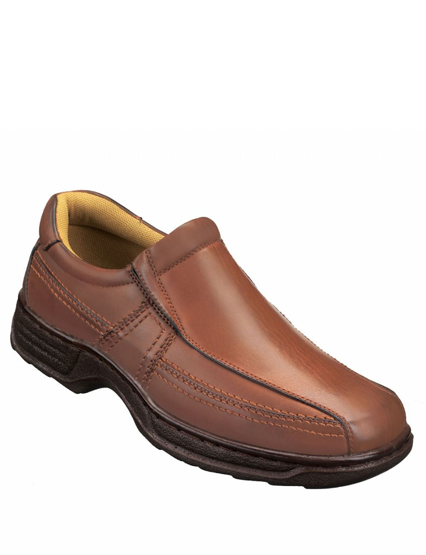 cushion walk slip on casual comfort shoe menswear footwear