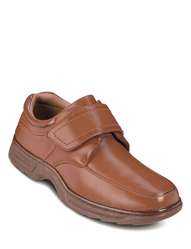 Mens Cushion Walk Touch Fasten Shoe